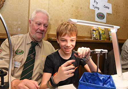 apgi-ireland junior fly tying competition at The Irish Fly Fair